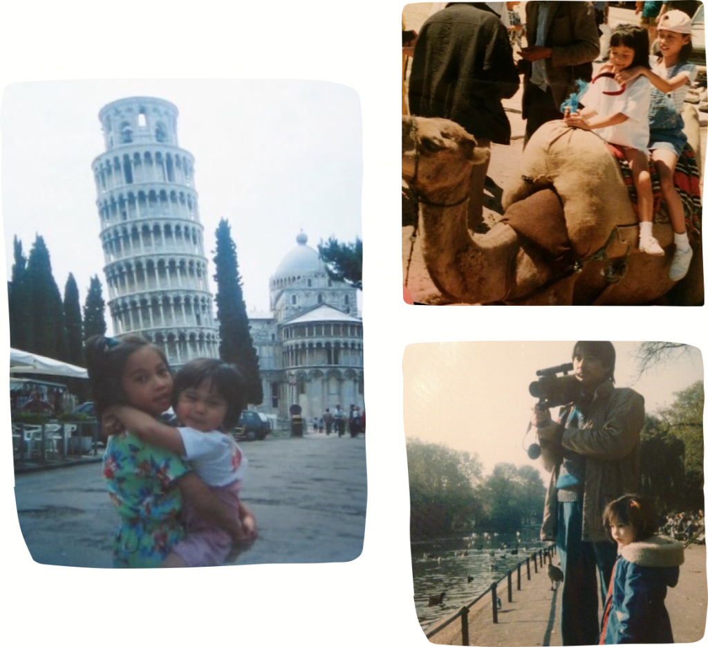 Images of Rita traveling as a child.