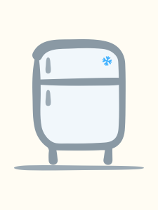 Refrigerator illustration