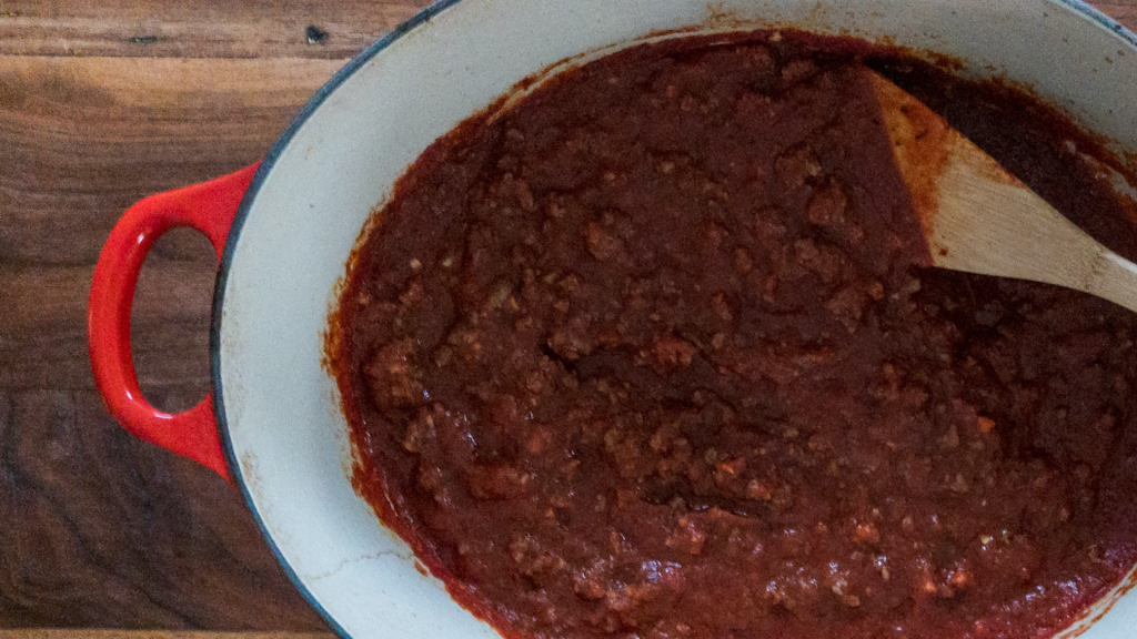 Image of homemade spaghetti sauce