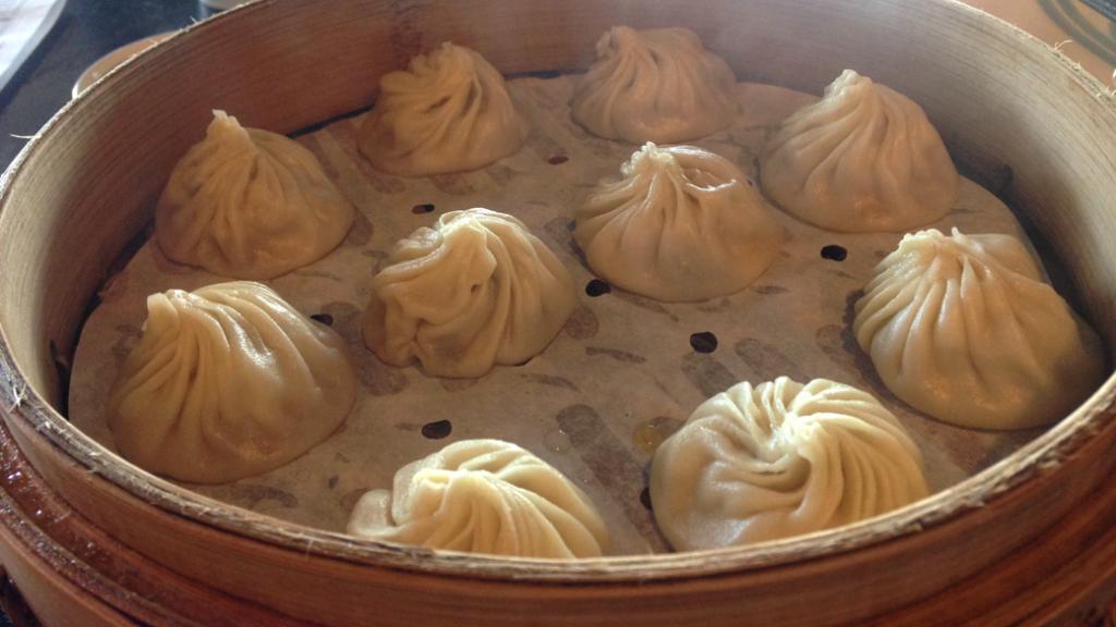 Fresh basket of xiao long bao
