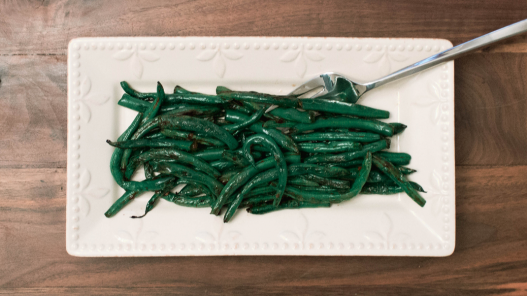 Plated Chinese green beans